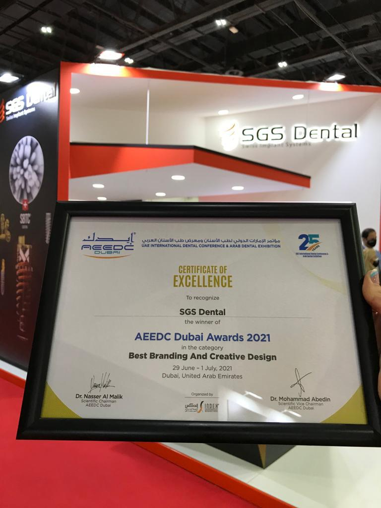 Best Branding And Creative Design award at AEEDC Dubai 2021!